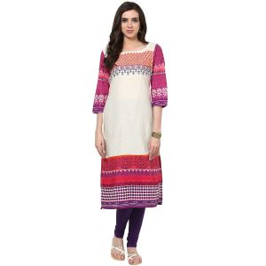Prakhya Jaipur Embroidered Womens Long Straight Pink Cotton Kurti (code - Sw672pink)