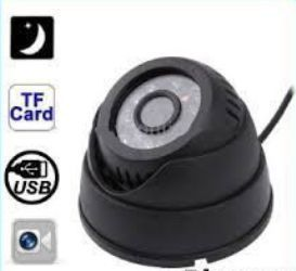 Cctv IR Dome Camera With Inbuilt Recording Card Slot Nightvision Dvr