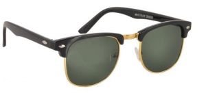 Ksr Clubmaster Sunglasses Googles Black And Golden With Uv400 Lens For Women