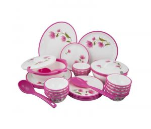 Ssol Melamine 32 PCs Dinner Set