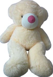 Deluxe Teddy Bear 4 Feet Butter/ Cream Colour