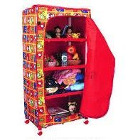 Wardrobes - KIDS INFANTS PORTABLE FOOLDABLE ALMIRAH WITH WHEEL