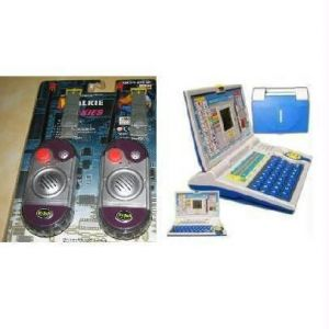 English Learner Kids Laptop PC & Walkie Talkie Set