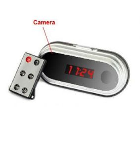 Spy Oval Digital Table Clock Camera