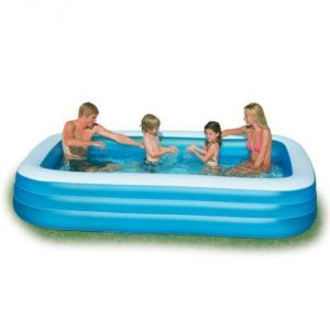 Intex Inflatable Swimming Pool 10ft*6ft With Electric Air Pump - 58484