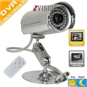 Bullet 24ir Night Vision Cctv Camera Dvr With Memory Card Slot Remote