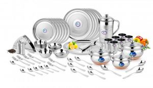 Airan Pearl Diamond Stainless Steel 65-piece Dinner Set-(product Code-air1025)