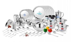 Crockery - Airan Crystal Stainless Steel 72-piece Dinner Set-(product Code-air1027)