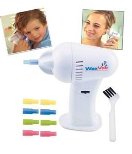 Electric Waxvac Ear Wax Remover Cleaner Vaccum Removal Kits