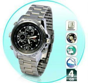 4GB Wrist Metal Watch Dvr Video Mini Spy Hidden Camera Metal