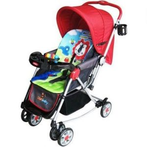 Deluxe Baby Pram Double Wheel Imported