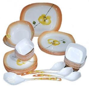 Glance Dinner Set Pack Of 32 Dinner Set (melamine)