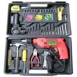 Tool Sets - Huge 100 PCs Impact Drill Toolkit, Drilling Machine, Power Tools Kit Set