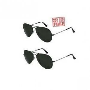 Buy 1 Get 1 Free - Black Aviator Sunglasses