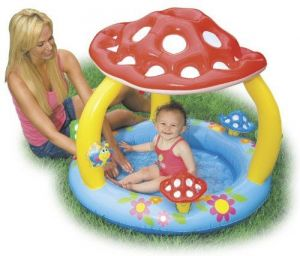 Intex Mushroom Inflatable Baby Wading Swimming Pool | 57407ep