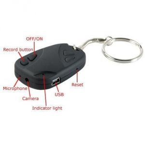 Security for cars and bikes - Spy Car Key Chain Camera