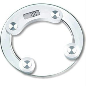 Digital Weighing Scale With Glass LCD Display