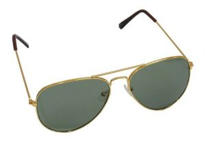 Affaires Aviator Sunglass Golden-green A-344
