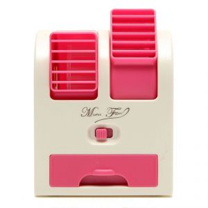 Air coolers - Mini Fragrance Air Conditioner Cooling Fan Dark Pink