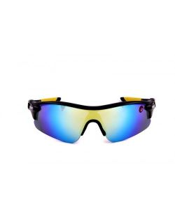 Omtex Sunglasses, Spectacles (Mens') - Omtex Flash Yellow Sports Sunglasses