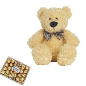 Rocher Chocolates And Teddy Bear