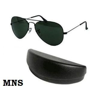 ce494d536df Buy Black Aviator Sunglasses Mens Sunglass With Hard Case Online ...