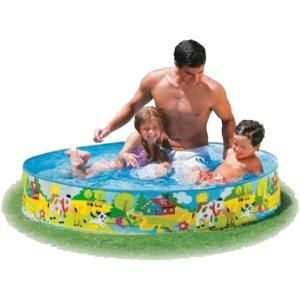 Non-air Intex Swimming 4 Feet Pool For Kids No Inflation Just Unfold & Use