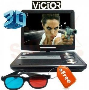 Portable dvd players - Victor Crown DVD Player With Screen Portable 7.8 Inch LED TV Tuner & 3d Fea
