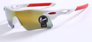 White Mirror Sports Driving Sunglasses 9181wh