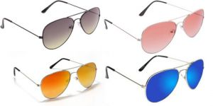 Sunglass Combo - Black 2 Shade Red 2 Shade ,golden Mercury ,blue Mercury