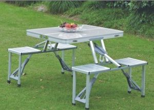Picnic Table Foldable For Outdoor Aluminium