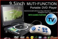 9inch Portable DIVX DVD MP3 Player USB Game Pad