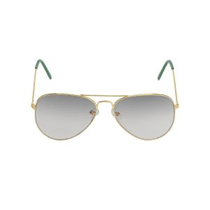 Visach Aviator Unisex Sunglasses (code - Aviator_golden_green_uv)