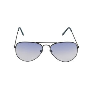 Visach Aviator Unisex Sunglasses (code - Aviator Black Blue)