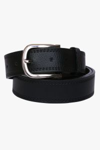 Visach Artificial Leather Black Formal Belts For Men (code - Vs-ltrite-blt-ston-blk)