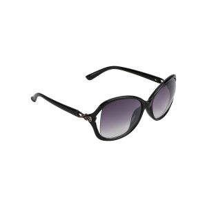 Visach Premium Round Sunglasses For Women (code - Premium Round Black Grey For Girls)