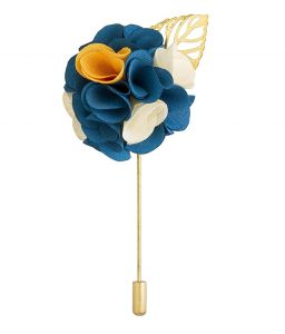 Kids' Accessories (Misc) - Visach Men party wear Multicolored Flower Brooch / Lapel Pin Boutonniere For Suit (code - VS_AC_105)