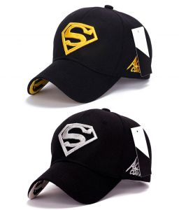 Superman Baseball & Sports Cap By Visach (pack Of 2) (code - Vs_cap_combo_1)