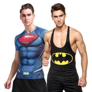 3d Compression Tank Top And Dry Fit Gym T-shirt By Visach Comic Collection (code - Vs_cc_combo_108)