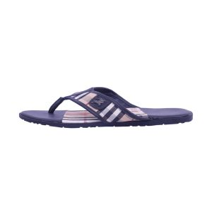 Visach Check Leather Flip-flop For Men