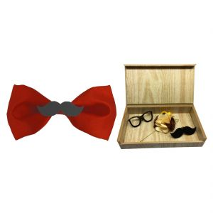 Visach Combo Of Men Party Wear Accessories With Stylish Bow Tie (Code - VS_MBOW_COMBO_15)