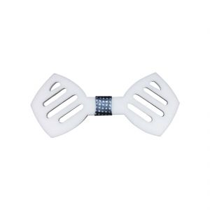 Visach Acrylic Designer Neck Bows For Men (code - Vs_nbow_126_white)