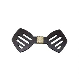 Visach Wooden Designer Neck Bows For Men (code - Vs_nbow_126_woodenbrown)