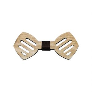Visach Wooden Designer Neck Bows For Men (code - Vs_nbow_126_woodencream)