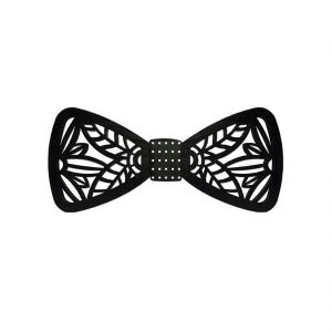 Visach Acrylic Designer Neck Bows For Men (code - Vs_nbow_127_black)