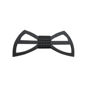 Visach Acrylic Designer Neck Bows For Men (code - Vs_nbow_129_black)