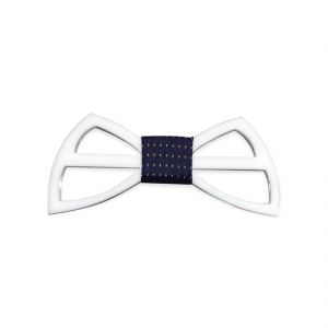 Visach Acrylic Designer Neck Bows For Men (code - Vs_nbow_129_white)