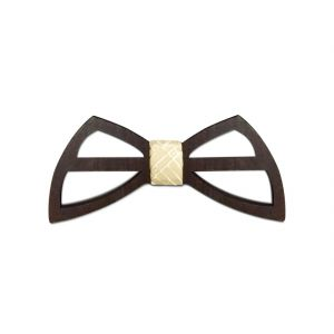 Visach Wooden Designer Neck Bows For Men (code - Vs_nbow_129_woodenbrown)