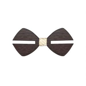 Visach Wooden Designer Neck Bows For Men (code - Vs_nbow_130_woodenbrown)