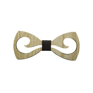 Bow Ties - Visach Wooden Designer Neck Bows For Men (Code - VS_NBOW_136_WoodenCream)